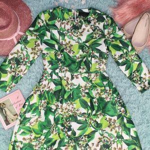 Blaque Label Long Sleeve Tropical Dress Size XS